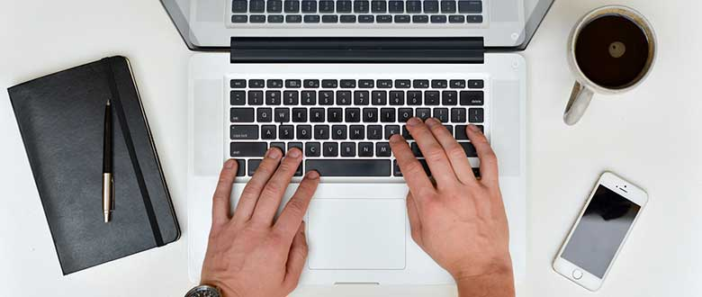 hands on keyboard typing
